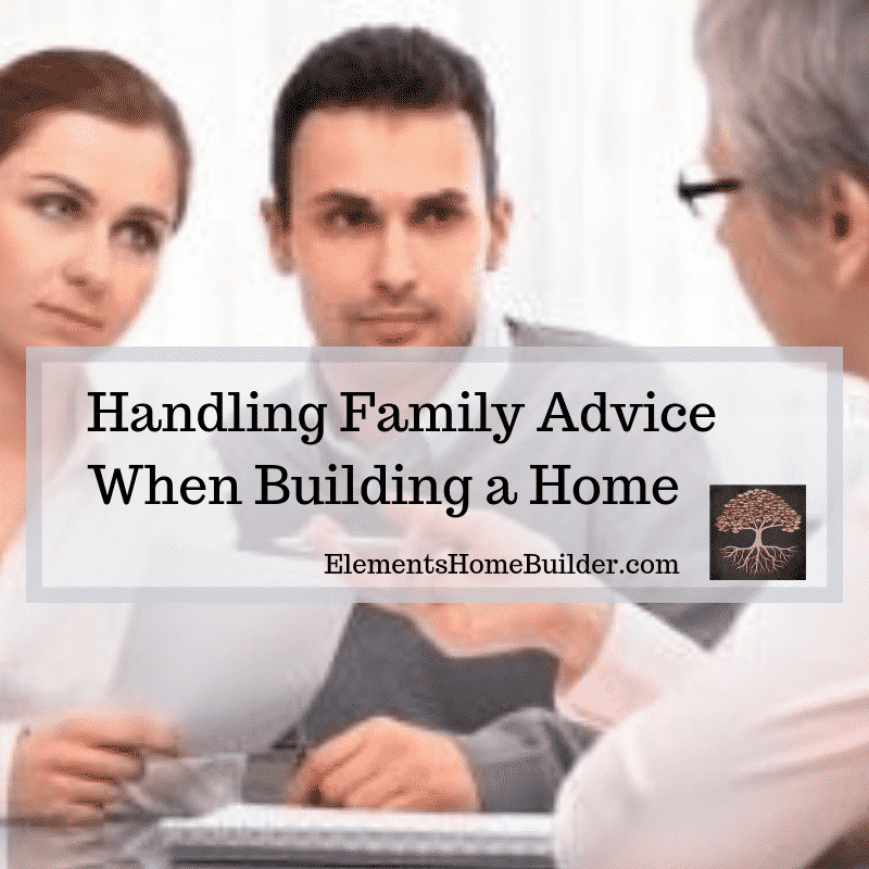Photo of a man and a woman listening to an older person on Handling Family Advice When Building a Home, an article by Elements Design Build, Custom Home Builder Greenville SC