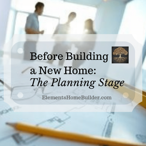 Photo of floor plans, pencil, and glasses on Before Building a New Home: The Planning Stage, an article by Elements Design Build, Custom Home Builder Greenville SC