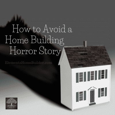 Photo of a home whose shadow is a scary monster on How to Avoid a Home Building Horror Story, an article by Elements Design Build, one of the best Home Builders Greenville SC