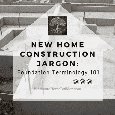 Photo of a concrete slab on New Home Construction Jargon: Foundation Terminology 101, an article by Elements Design Build, Custom Home Builder Greenville SC