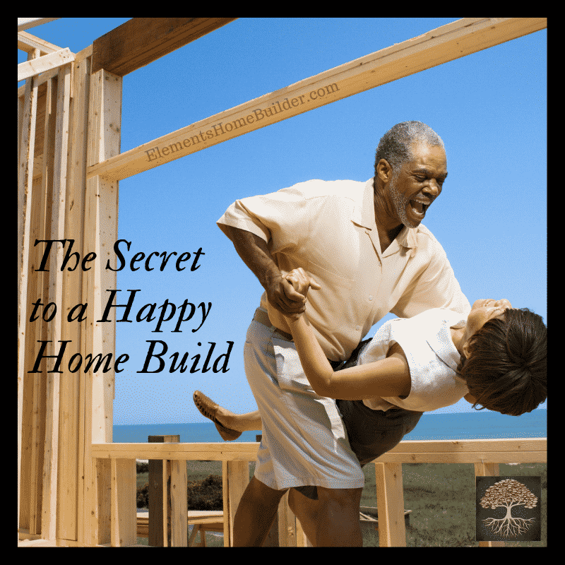 Photo of a man dipping his wife in their new home under construction on The Secret to a Happy Home Build, an article by Elements Design Build, one of the top Custom Home Builders Greenville SC