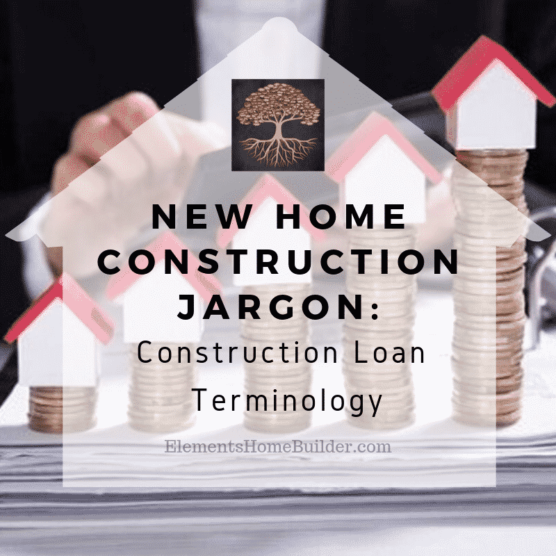 Photo of tiny homes sitting on top of stacks of quarters on New Home Construction Jargon: Construction Loan Terminology, an article by Elements Design Build, one of the top custom home builders Greenville SC