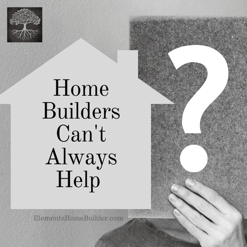 Photo of a person holding a piece of paper with a question mark on it on Home Builders Can't Always Help, an article by Elements Design, one of the top Custom Home Builders Greenville SC