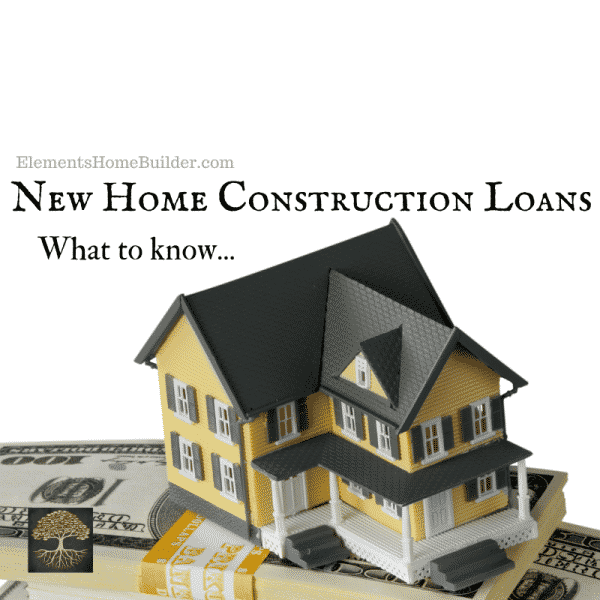 Photo of a model home sitting on top of a stack of cash on New Home Construction Loans: What to know, an article by Elements Design Build L.L.C., Custom Home Builder Greenville SC