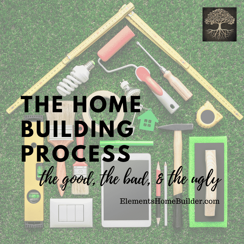 """Photo of different tools placed in the shape of a house on """"The Home Building Process: The Good, The Bad, & The Ugly,"""" an article by Elements Design Build L.L.C., one of the best Custom Home Builders Greenville SC"""