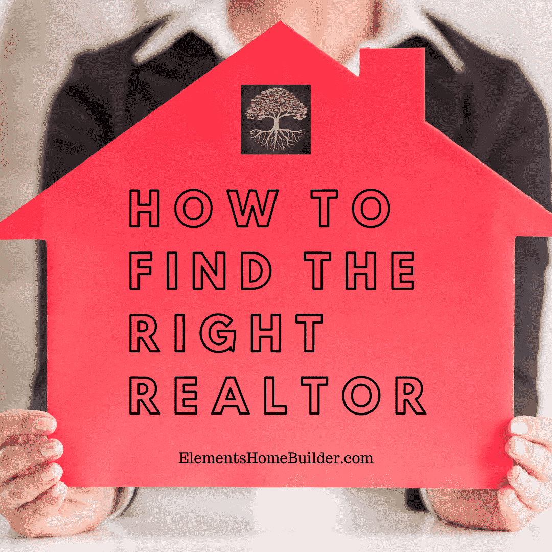 Photo of a woman holding a red cut-out of a house on How to Find the Right Realtor, an article by Elements Design Build, one of the top Custom Home Builders Greenville SC