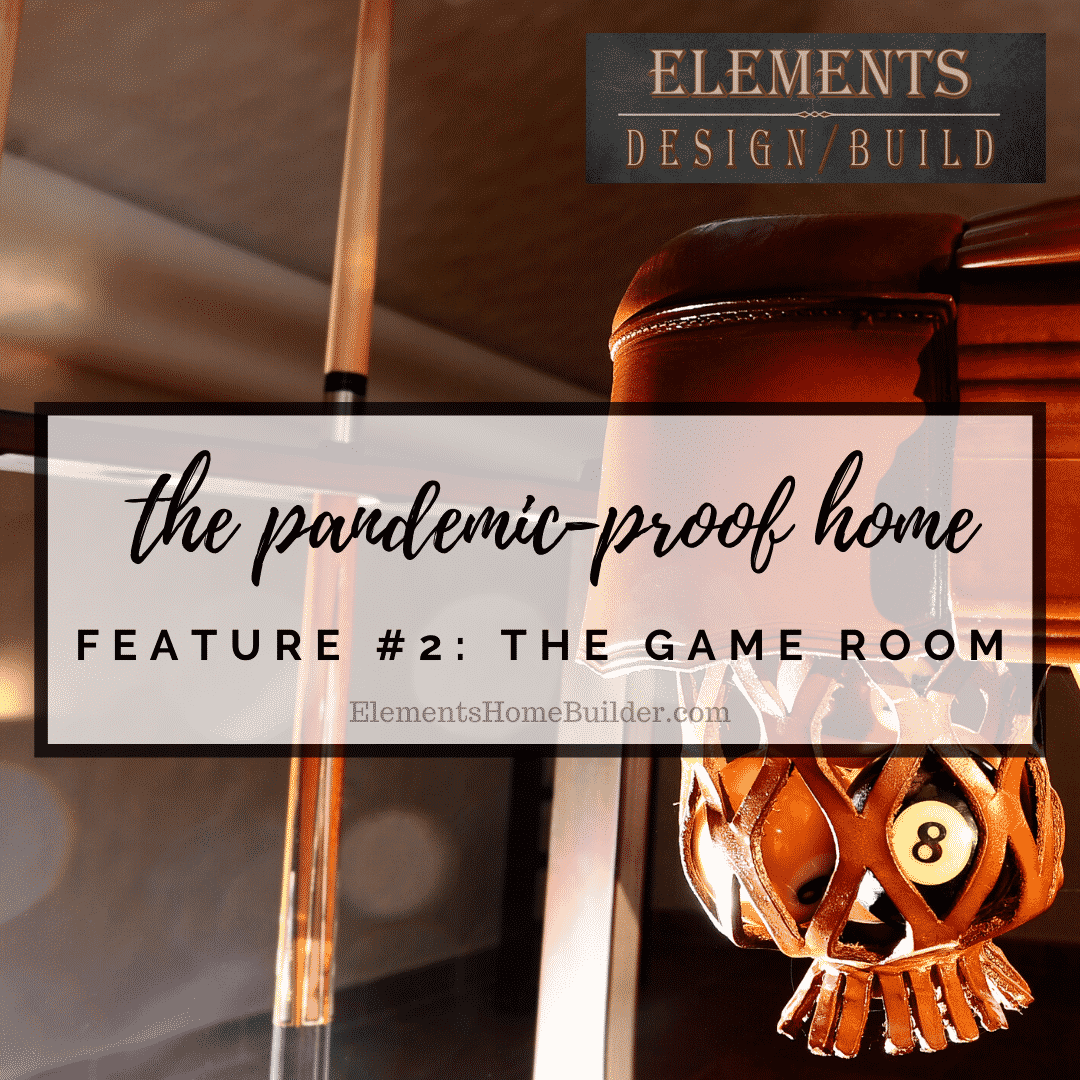 "Photo of the pocket of a pool table on ""The Pandemic Proof Home: Feature #2 - The Game Room,"" an article by Elements Design Build LLC, Custom Home Builder Greenville SC"