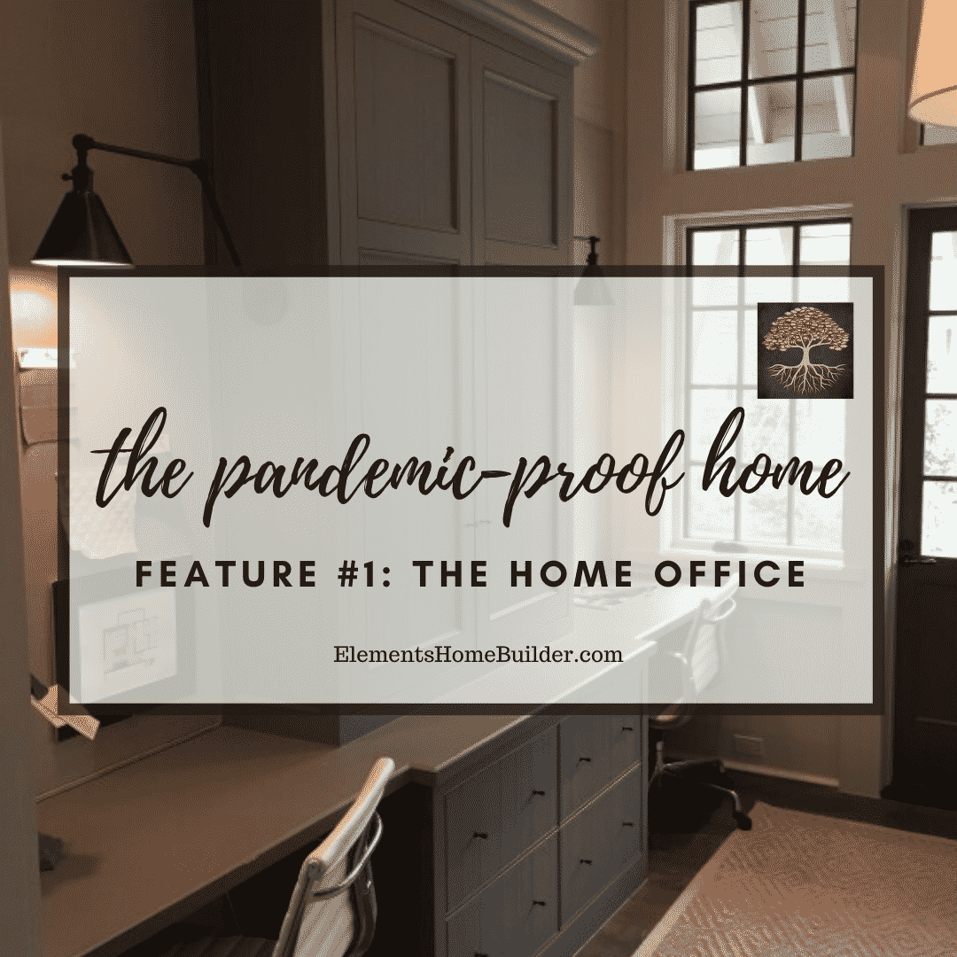 "Photo of a pocket office on ""The Pandemic-Proof Home: Feature #1 - The Home Office,"" an article by Elements Design Build L.L.C., one of the premier Custom Home Builders Greenville SC"