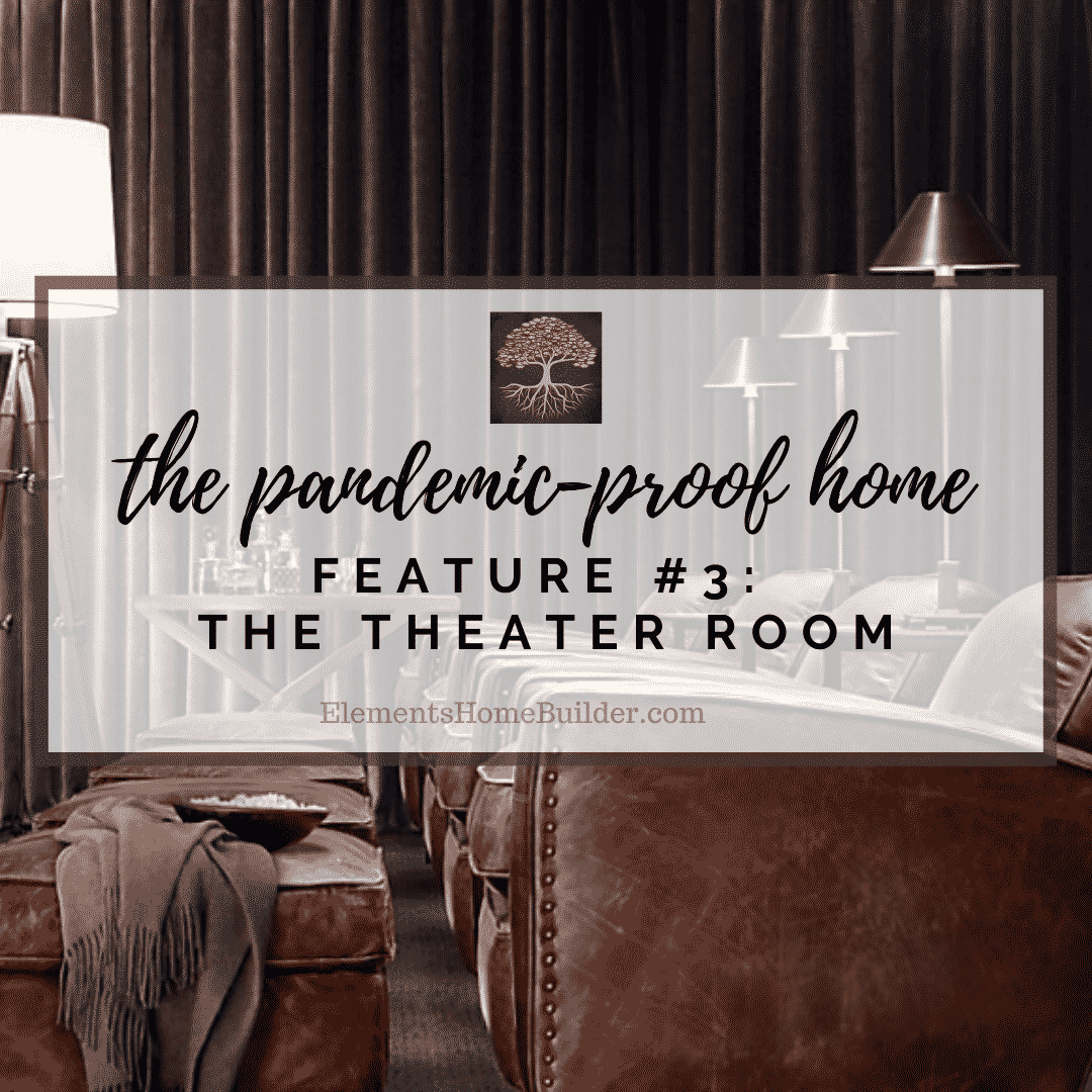 """Photo of leather theater room recliners on """"The Pandemic-Proof Home: Feature #3 - The Theater Room"""" on Elements Design Build LLC, one of the top Custom Home Builders Greenville SC"""